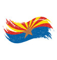 national flag of arizona designed using brush vector image vector image