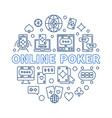 online poker circular in vector image vector image