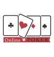 online poker club casino gambling play cards vector image vector image