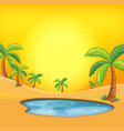 orange hot desert background vector image