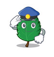 police mint leaves character cartoon vector image vector image