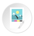 Printed picture icon flat style vector image vector image