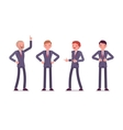 Set of four business male characters vector image vector image