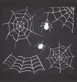 spider web set hand drawn sketched web vector image