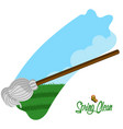 spring clean concept image vector image