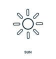 sun icon flat style icon design ui vector image vector image