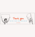 thank you for your distancing covid-19 banner vector image vector image