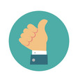 thumb up icon vector image vector image