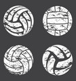 volleyball grunge set vector image vector image