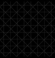 white dash square and diamond seamless on black vector image vector image