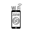 wi-fi zone icon vector image vector image