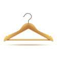 wooden hanger isolated on white vector image vector image