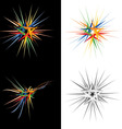 abstract star design element vector image