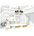 Contemporary interior doodles vector image