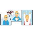 Businessman Transformation Super Hero Character vector image