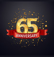 65 years anniversary logo template on dark vector image vector image