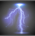a realistic glowing lightning vector image vector image