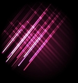 Abstract neon pink background with lines vector image vector image
