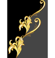 an abstract gold pattern vector image vector image