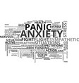 anxiety no need to worry text word cloud concept vector image vector image