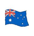 australia flag in grunge style australian vector image vector image