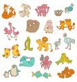 Baby Animals with Moms vector image vector image