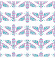 Bee beetles fly maryls wasp seamless pattern