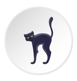 Black cat icon cartoon style vector image