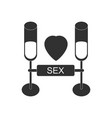 black icon on white background sex and cocktails vector image vector image