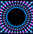 blue purple abstract glowing lights circle vector image vector image