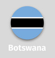 botswana flag round icon vector image