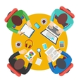 Business Meeting in office teamwork vector image vector image