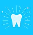 cartoon healthy bright shining tooth concept vector image