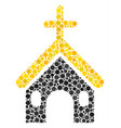 christian church mosaic of dots vector image vector image
