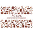 coffeehouse poster of coffee cups and beans vector image vector image