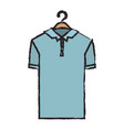 colored blurred silhouette of polo shirt short vector image vector image