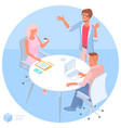 concept teamwork and workflow vector image vector image
