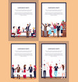 corporate party set of posters vector image vector image