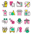 creation art graphic icons set flat design vector image vector image