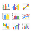 creative infographics flat icons vector image