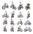 cyclist set 013 vector image vector image