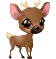 deer on a white background vector image vector image