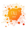 fall sale vector image vector image