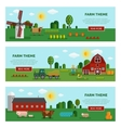 flat farm vegetables banner set vector image vector image