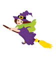 Flying Witch - Halloween vector image
