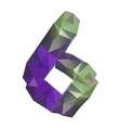 geometric crystal digit 6 vector image vector image