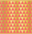 gold foil coral triangle seamless texture vector image