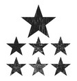 grunge star collection vector image vector image