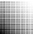 halftone dots gradient point at 45 degrees vector image