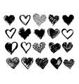 hand drawn grunge heart vector image